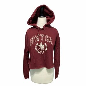 Wild fable crop hoodie New York red medium